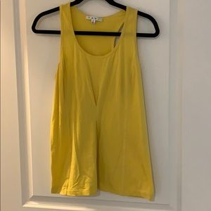 CABI yellow tank top- stretchy like-new